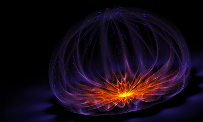 Abstract cosmic flower. Beautiful background for art projects, business, banner, template, card