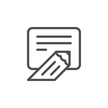 Writing line icon