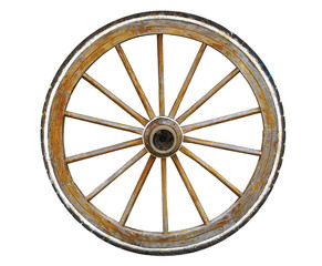 wheel, car, tire, isolated, wood, wooden, wagon, white, tyre, antique, circle, auto, rim, transportation, vintage, cart, carriage, vehicle, transport, automobile, round, rubber, alloy, metal, ancient