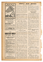 Newspaper page english text advertisement Used paper