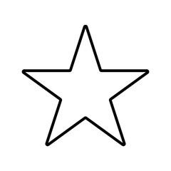 star vector icon thinline, best,favourite
