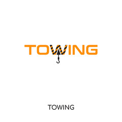 towing logo isolated on white background for your web, mobile and app design