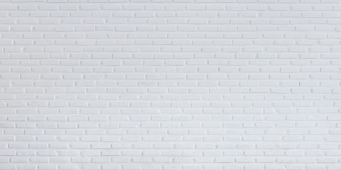White brick wall pattern and  background panorama,  Seamless old brick wall for white background
