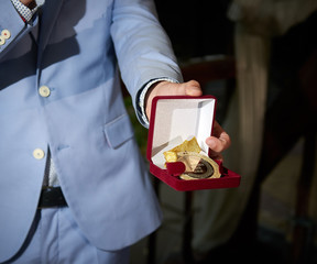 Souvenir medal for newly married