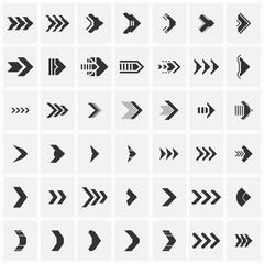 Set of futuristic arrows. Vector illustration.