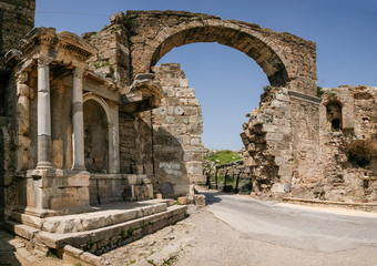 Vespasian Gates in Side, Turkey