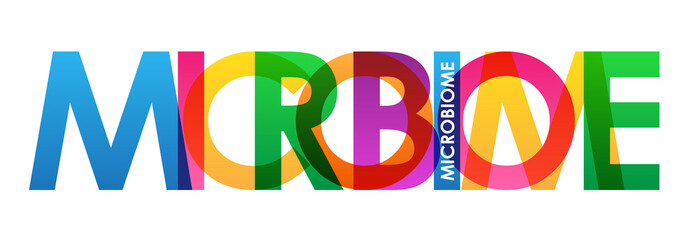 MICROBIOME Colourful Vector Letters Icon
