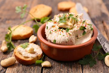 vegan cheese with cashew nut Wall mural