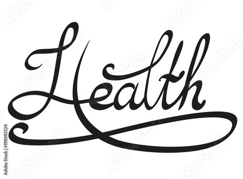 lettering with the inscription health vector clipart for print on t rh fotolia com Court Reporter Clip Art Obstacles Clip Art