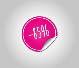 85 Sale Sticker Pink
