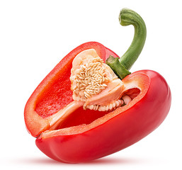 Red bell pepper three quarters