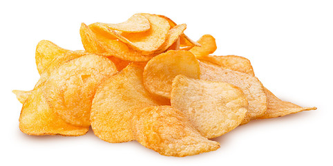 Potato chips pile