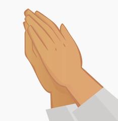 Praying hands. Illustration on white background.