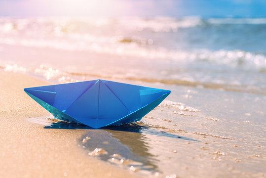 Sinking paper boat