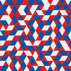 Red white and blue geometric vector background