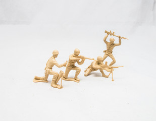 Tan soldiers in a line