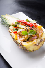 Chicken with pineapple asian dish