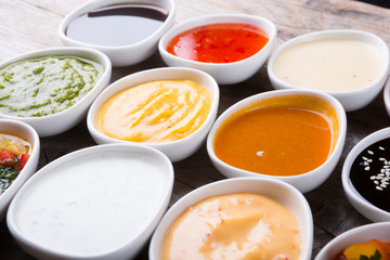 Different type of sauces