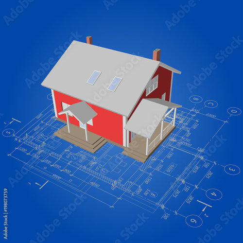 Architectural background with a 3d suburban house model detailed architectural background with a 3d suburban house model detailed architectural plan vector building blueprint malvernweather Gallery