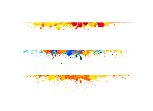 Page dividers of splash paint.