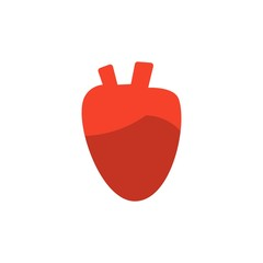 heart organ flat vector icon. Modern simple isolated sign. Pixel perfect vector  illustration for logo, website, mobile app and other designs