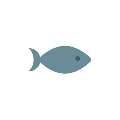 fish flat vector icon. Modern simple isolated sign. Pixel perfect vector  illustration for logo, website, mobile app and other designs