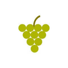 grape flat vector icon. Modern simple isolated sign. Pixel perfect vector  illustration for logo, website, mobile app and other designs
