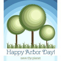 Postcard, poster or banner for the Arbor Day
