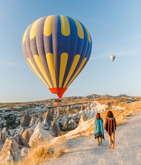 Hot air balloons in Cappadocia, Turkey