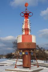 Old water buoy in Gdansk