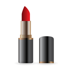 Example for advertising bright red lipstick image. Vector Illustration. EPS10