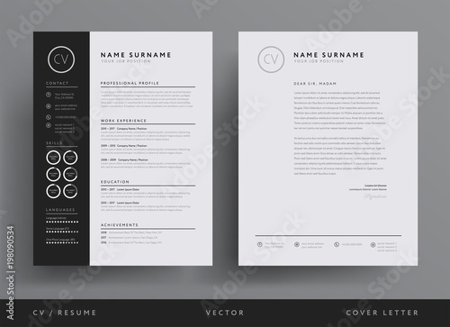 u0026quot professional cv resume template design and letterhead