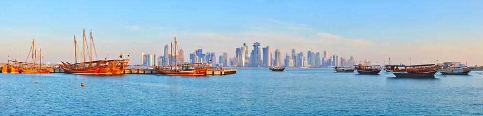 Discover Doha harbor, Qatar