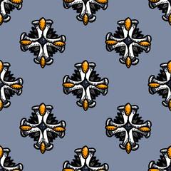 Gorgeous medal seamless pattern. Original design for print or digital media.