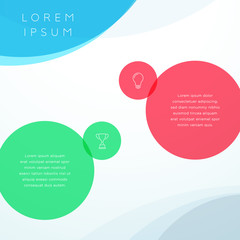 Abstract Vector Colorful Circle Background Template