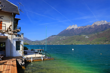 Lake Annecy in Haute Savoie, France