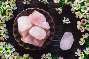 Ceramic Bowl of Rose Quartz