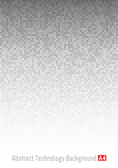 Abstract Gray Technology Background,  a4 format. A4 size. Vector Illustration