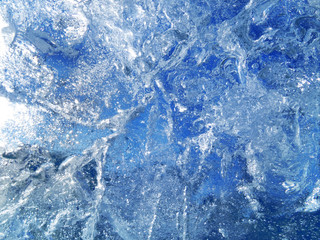 Textured blue ice