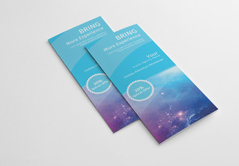 Trifold Brochure Layout with Teal Background