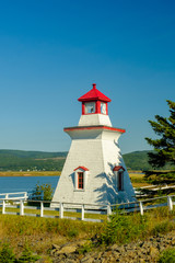 The colorful and beautiful Anderson Hollow Lighthouse in Canada