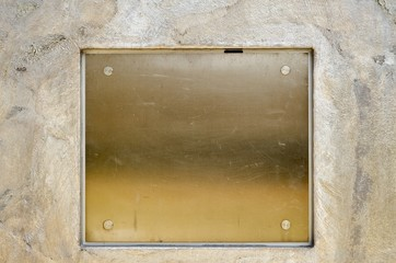 Shiny steel plate with rivets