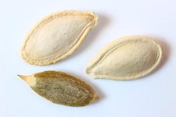 Pumpkin seeds close up