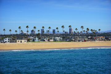 Orange County beach and skyline