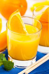 Orange Juice. Selective focus.