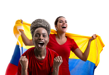Colombian fan celebrating