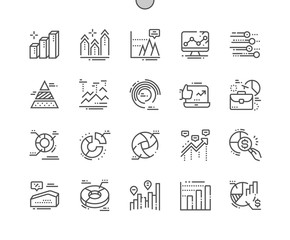 Charts Well-crafted Pixel Perfect Vector Thin Line Icons 30 2x Grid for Web Graphics and Apps. Simple Minimal Pictogram