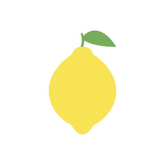 Lemon icon, simple design, Lemon icon clip art. Clipart cartoon fruit icon.