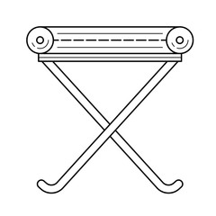 Camp-chair vector line icon isolated on white background. Camp-chair line icon for infographic, website or app. Icon designed on a grid system.