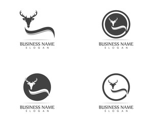 Deer head logo vector illustration